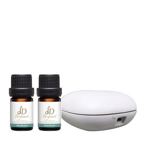 JD甜橙精油5ml+JD佛手柑精油5ml+北歐風行動香氛機