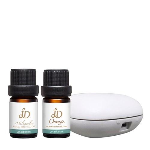 JD甜橙精油5ml+JD捷‧美體5ml(複方精油)+北歐風行動香氛機