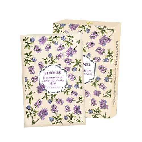 紫花苜蓿活妍保濕面膜22mlx5片/盒