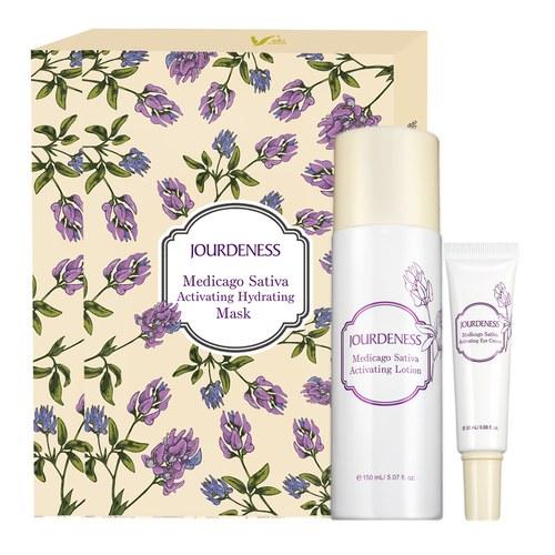 紫花苜蓿活妍化妝水150ml+眼霜20ml+面膜5片/盒x2